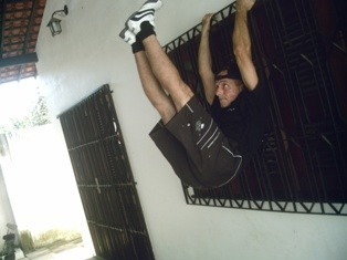 end of hanging leg raise